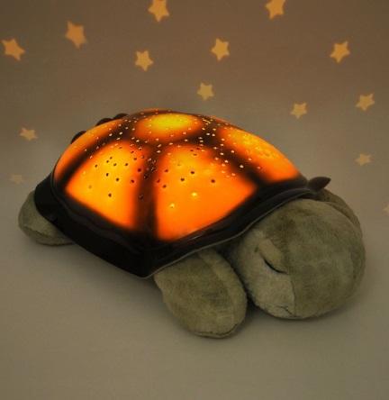 מנורת צב ירוק תאורת כוכבים