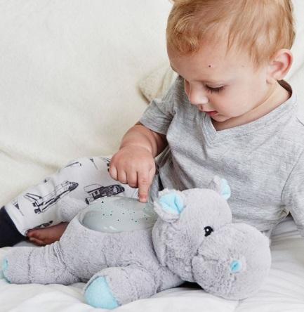 היפופוטם תאורת כוכבים בובה מנגנת ומאירה אקססוריז עיצוב חדר ילדים