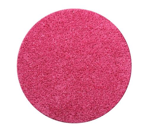 שטיח עגול לחדר ילדים ורוד  פוקסיה 120 קוטר