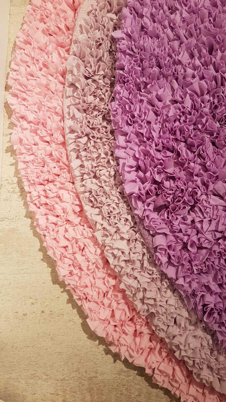 שטיח עגול לחדר ילדים סגול 120 קוטר