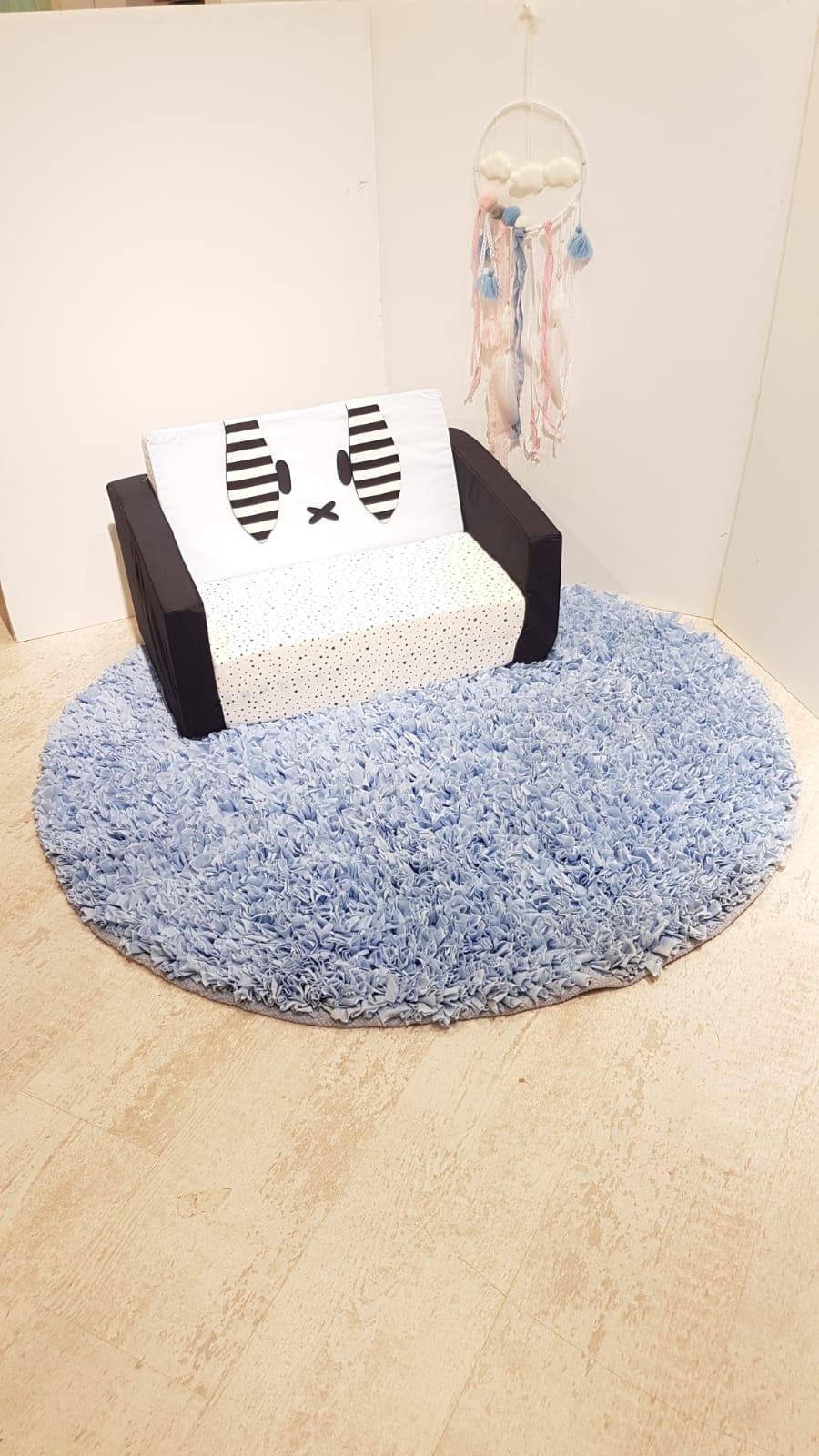 שטיח עגול לחדר ילדים לבן 120 קוטר