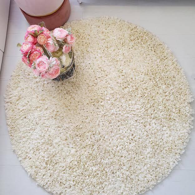 שטיח עגול לחדר ילדים שמנת 120 קוטר