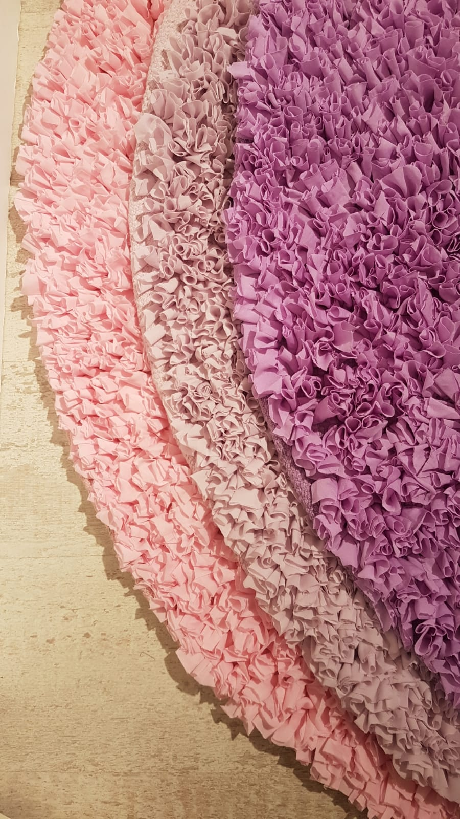 שטיח עגול לחדר ילדים סגול 130 קוטר