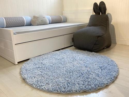 שטיח עגול לחדר ילדים תכלת 130 קוטר