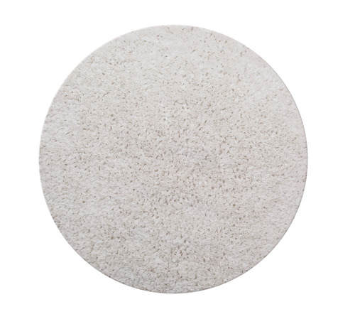 שטיח עגול לחדר ילדים לבן 130 קוטר