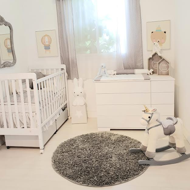 שטיח עגול לחדר ילדים אפור כהה  - תמונה 4