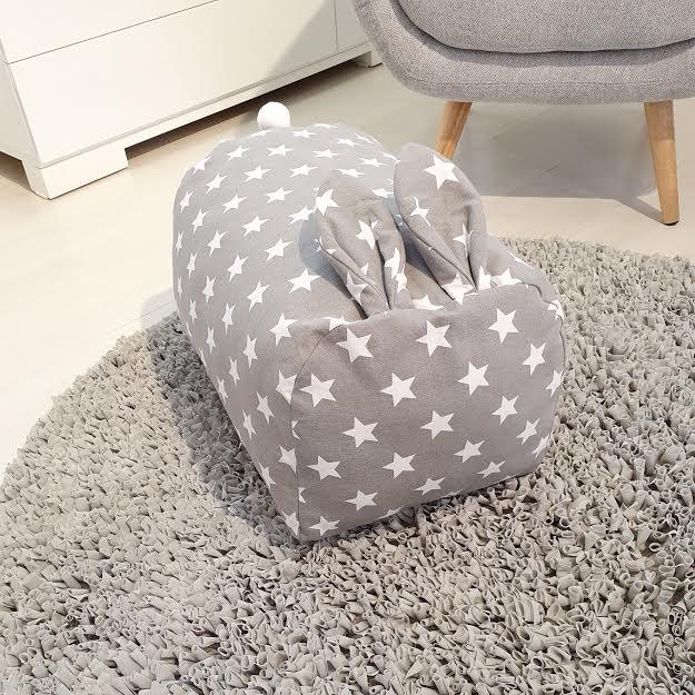 שטיח עגול לחדר ילדים אפור כהה  - תמונה 3