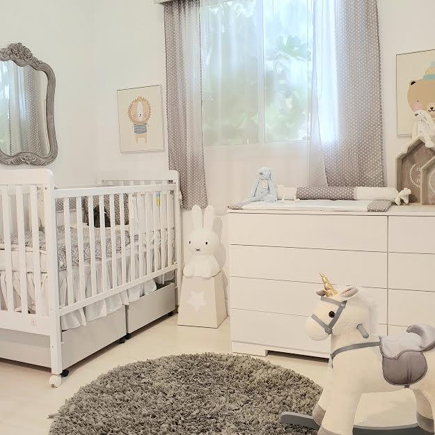 שטיח עגול לחדר ילדים אפור כהה