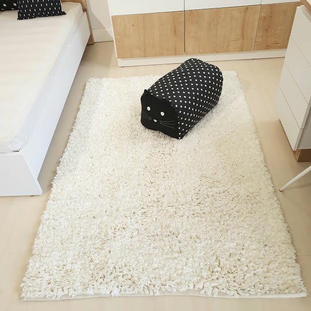 שטיח מלבן לחדר ילדים לבן 90/150