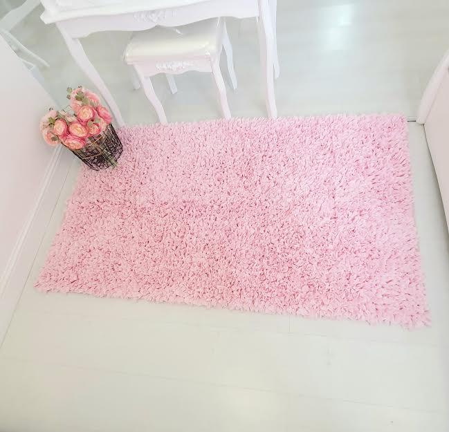 שטיח מלבן לחדר ילדים ורוד בהיר 120/180