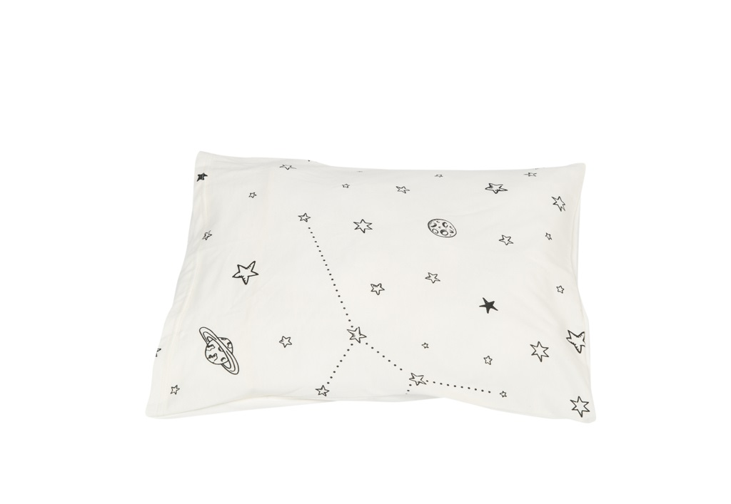 סט מצעים למיטת תינוק דגם אבק כוכבים לבן