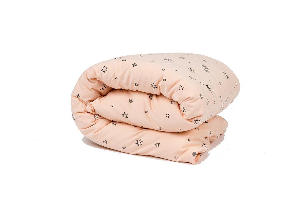 סט מצעים למיטת תינוק דגם אבק כוכבים אפרסק