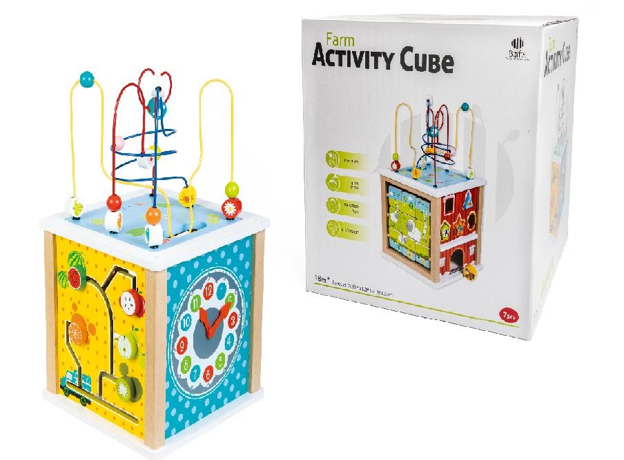 קוביות חווה 12 חודשים - צעצועי עץ