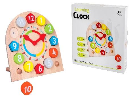 שעון מעץ 24 חודשים- צעצועי עץ