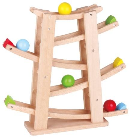 מדרון כדורי עץ 18 חודשים - צעצועי עץ