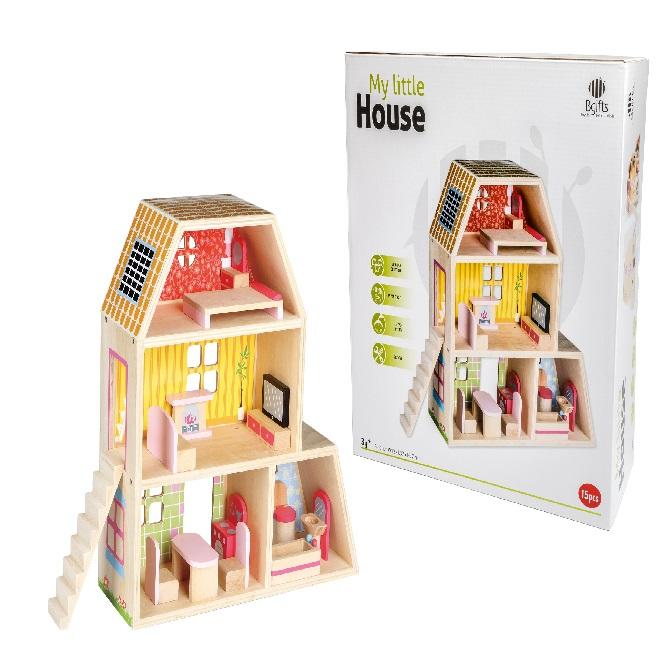 בית בובות 36 חודשים - צעצועי עץ
