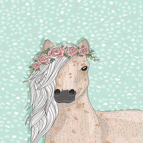 תמונה לחדר ילדים דגם סוס