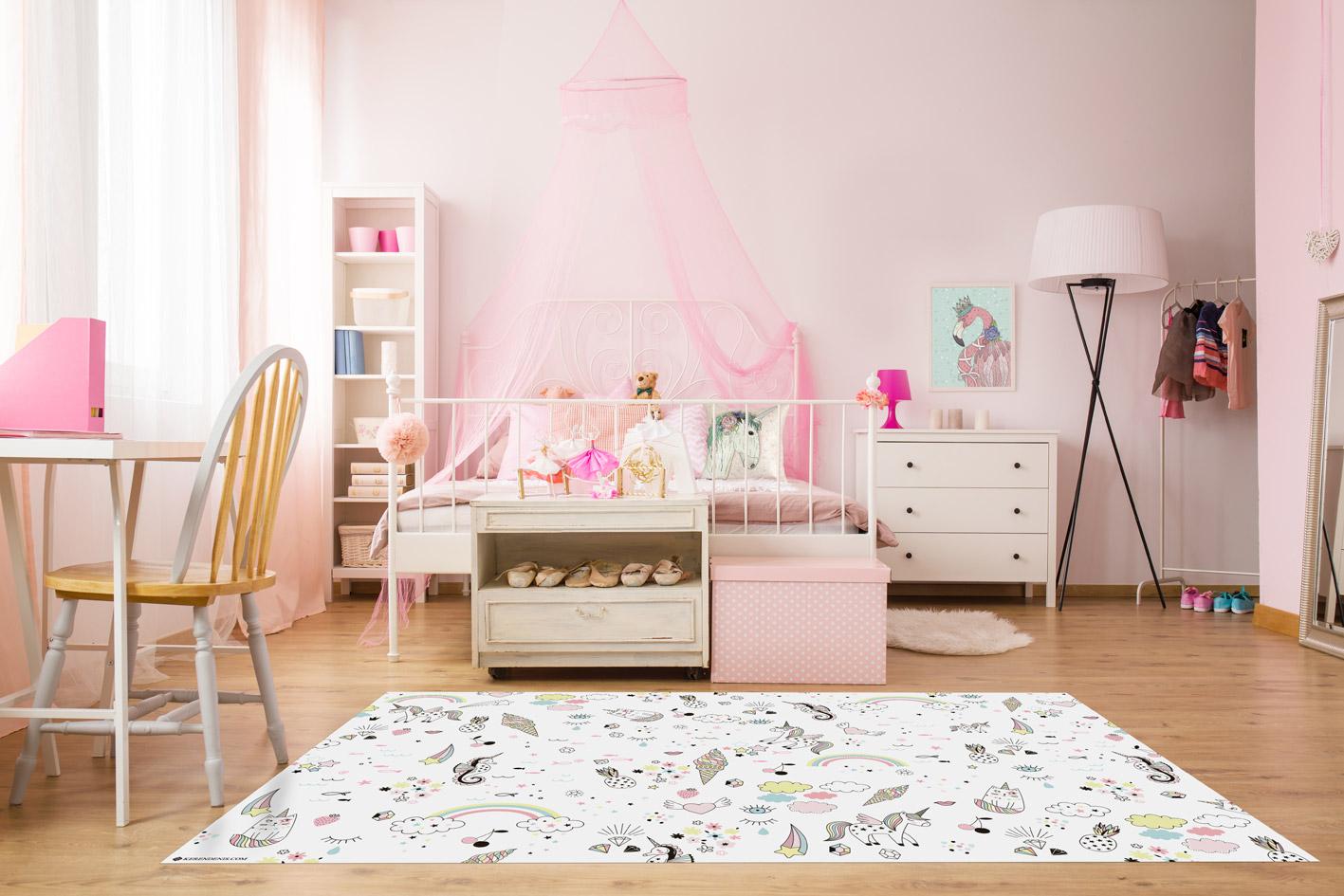 שטיח ויניל לחדר ילדים בהדפס חד קרן