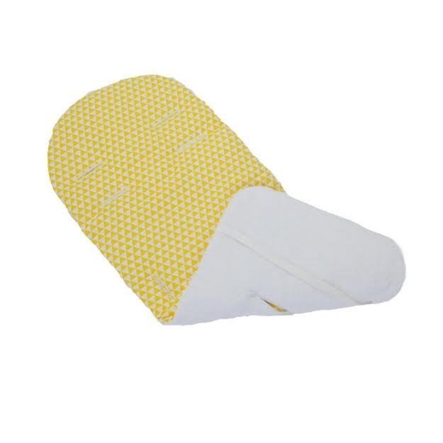 ריפודית לעגלה משולשים צהובים
