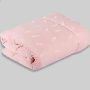 שמיכה לתינוק מטריקו ורוד בייבי נוצות