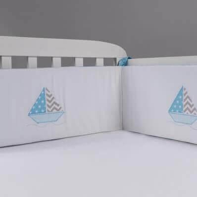 מגן ראש לעריסה מגן ראש למיטת תינוק דגם סירה