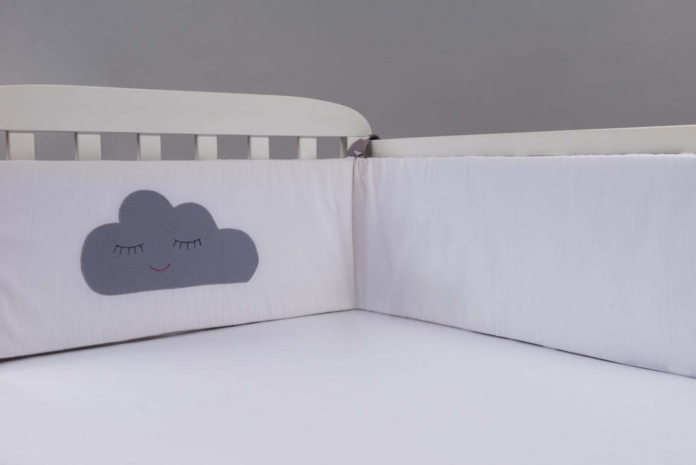 ענן אפור - מגן ראש למיטת תינוק