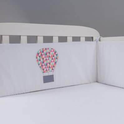 מגן ראש לעריסה מגן ראש למיטת תינוק דגם כדור פורח