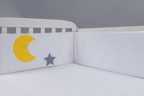 ירח וכוכב - מגן ראש למיטת תינוק
