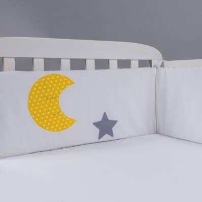 מגן ראש לעריסה מגן ראש למיטת תינוק ירח כוכבים