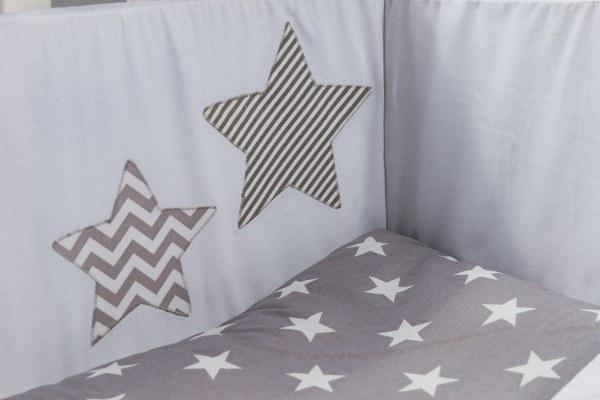 מגן ראש לעריסה מגן ראש למיטת תינוק -כוכבים - תמונה 2