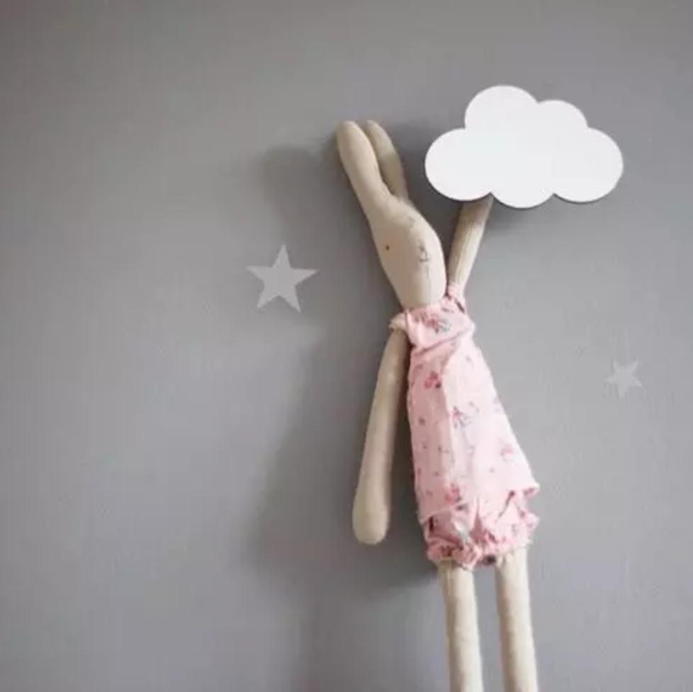 מתלה וו תליה לחדר ילדים ענן לבן