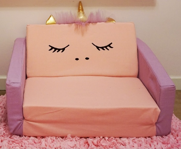 ספה לילדים מעוצבת חד קרן
