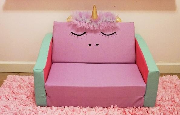 ספה לילדים - חד קרן ורוד
