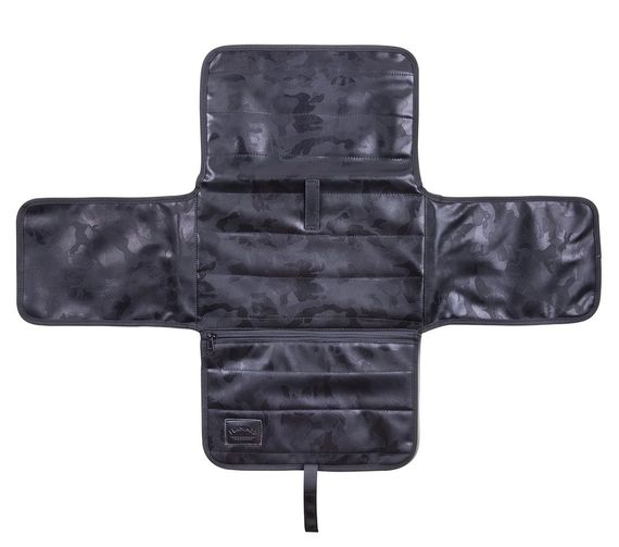 תיק לעגלה מעוצב דגם צבאי שחור וכסף