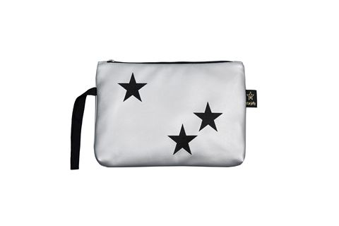 כוכבים שחור כסף - תיק קלאץ' מעוצב