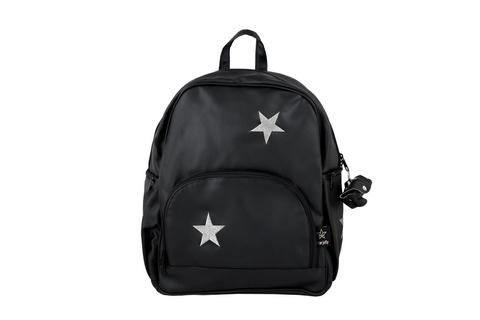 עור כוכבים שחור כסף - תיק לעגלה