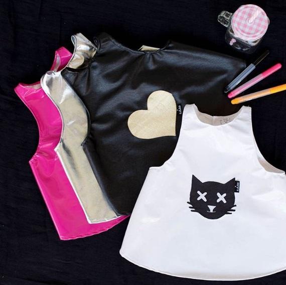 מסכת חתול ורוד סינר ויניל - סינרים