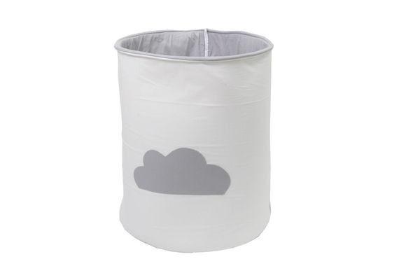 סל כביסה לתינוק עננים אפור