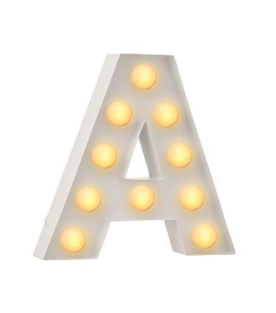A מנורת אותיות - תאורה