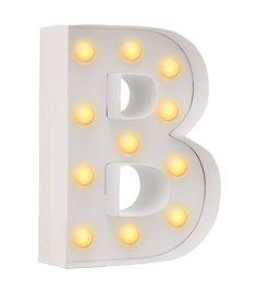 B מנורת אותיות - תאורה