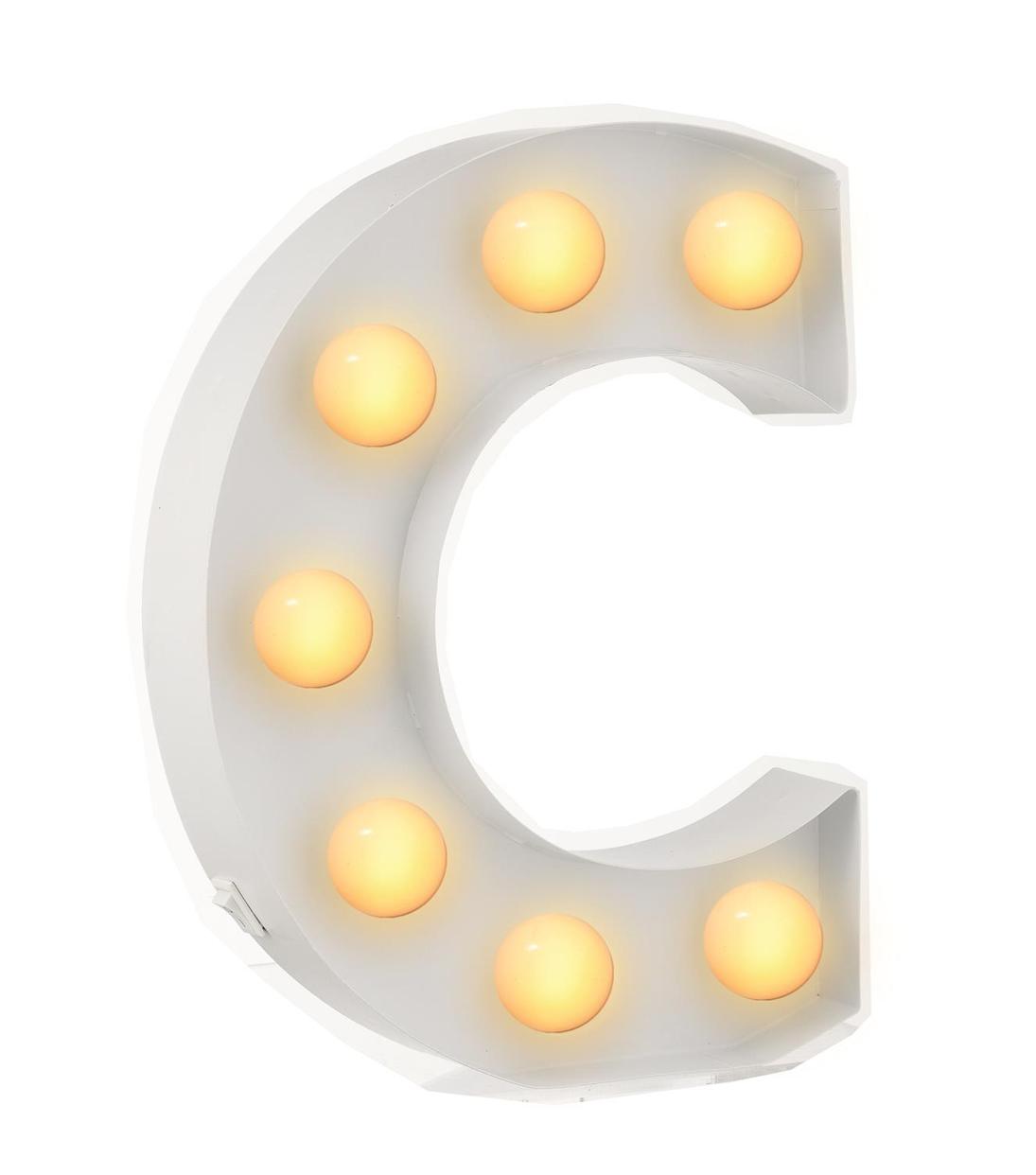 C מנורת אותיות - תאורה