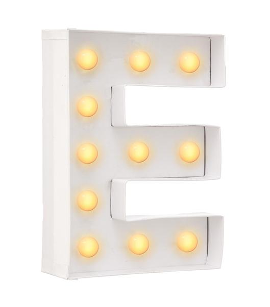 E מנורת אותיות - תאורה