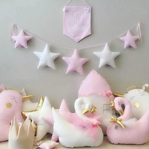 מובייל כוכבים ורוד אקססוריז עיצוב חדר ילדים