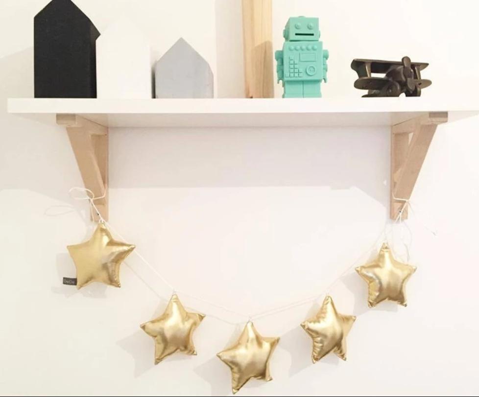 מובייל כוכבים זהב אקססוריז עיצוב חדר ילדים