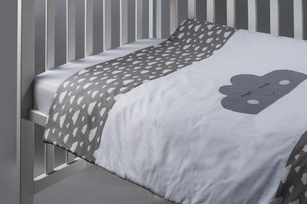 ענן אפור - שמיכה למיטת תינוק