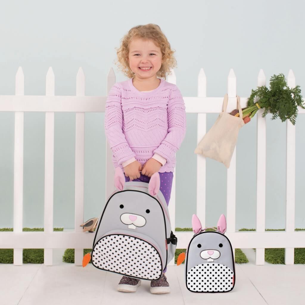 תיק גן לילדים דגם ארנב אפור