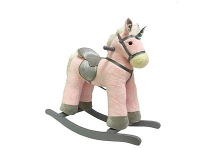 סוס נדנדה חד קרן ורוד