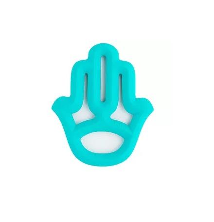 נשכן לתינוק סיליקון גמיש דגם חמסה כחול