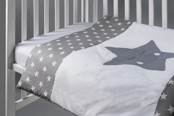 שמיכה למיטת תינוק דגם כוכב