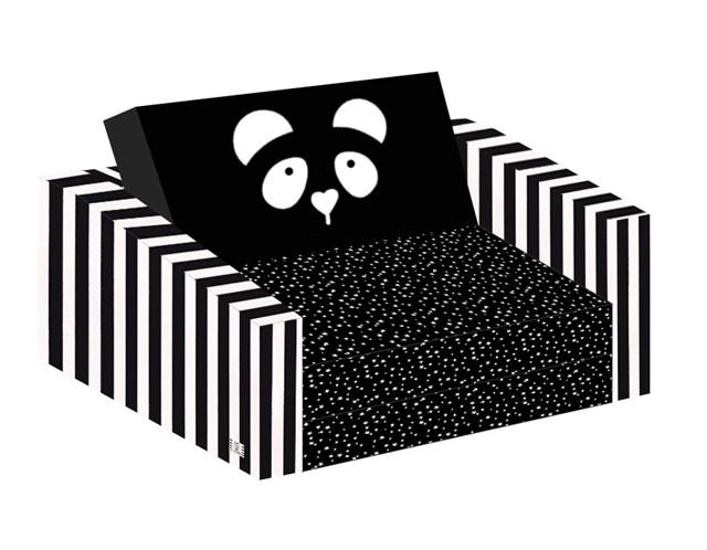 ספה לילדים פנדה שחור לבן